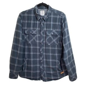 Voyager Thermal Lined Gray Plaid Flannel Shirt